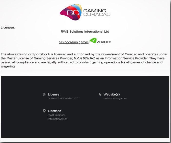 Casinocasino information2