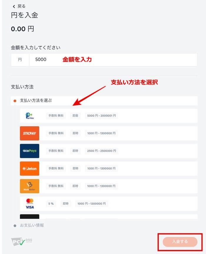Bitcasino deposit15