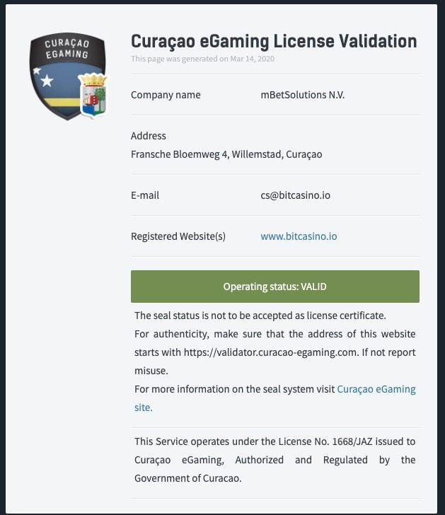 Bitcasino licence1