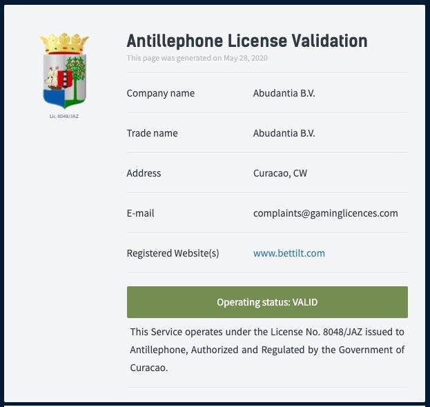 Bettilt licence1