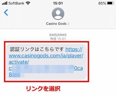 カジノゴッズ 登録方法7