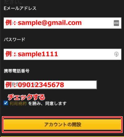 エンパイアカジノ 登録方法2