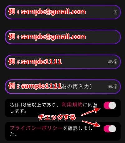 インターカジノ 登録方法2