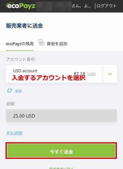 カジノシークレット エコペイズ入金5