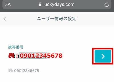 ラッキーデイズカジノ 登録方法7