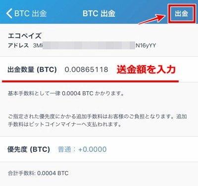 エコペイズ(ecoPayz) 仮想通貨入金15