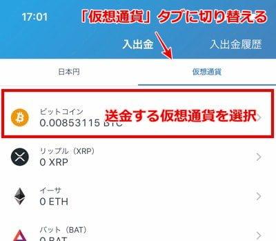 エコペイズ(ecoPayz) 仮想通貨入金9