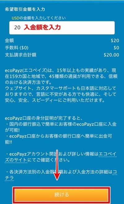 ベラジョンカジノ エコペイズ入金2