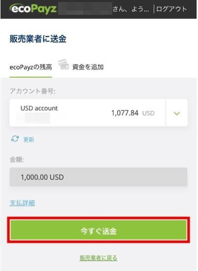 ワンダーカジノ エコペイズ入金5