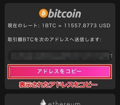 インターカジノ ビットコイン入金