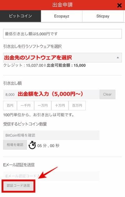 エルドアカジノ ビットコイン出金1