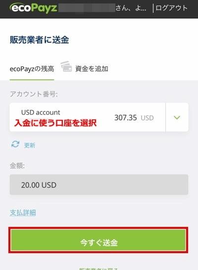 ユースカジノ エコペイズ入金4