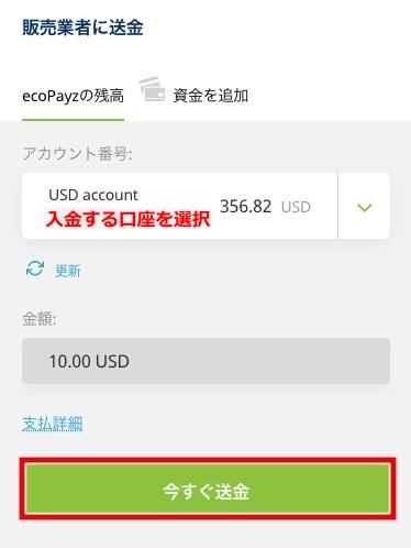 ギャンボラ エコペイズ入金2
